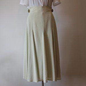 Vintage Beige Long Skirt